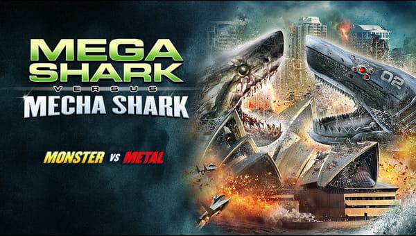 Mega Shark vs Mecha Shark on FREECABLE TV