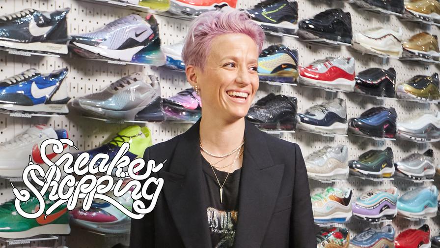 Megan Rapinoe Goes Sneaker Shopping